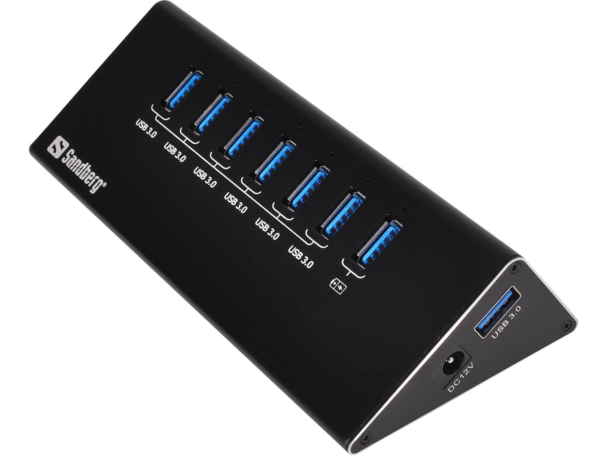 USB 3.0 Hub 6+1 ports