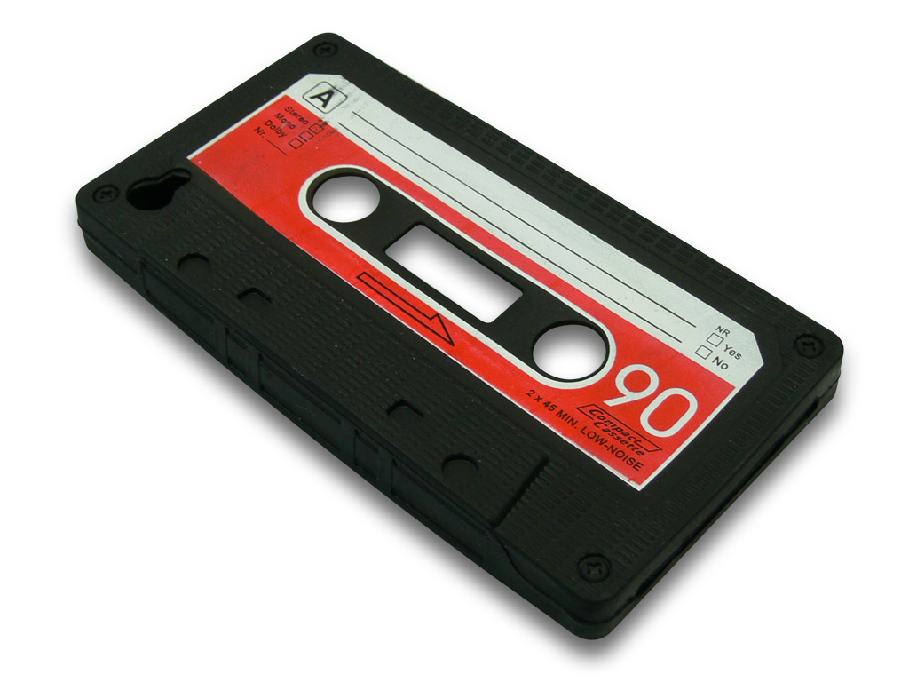 Cover 4/4S retro tape Black