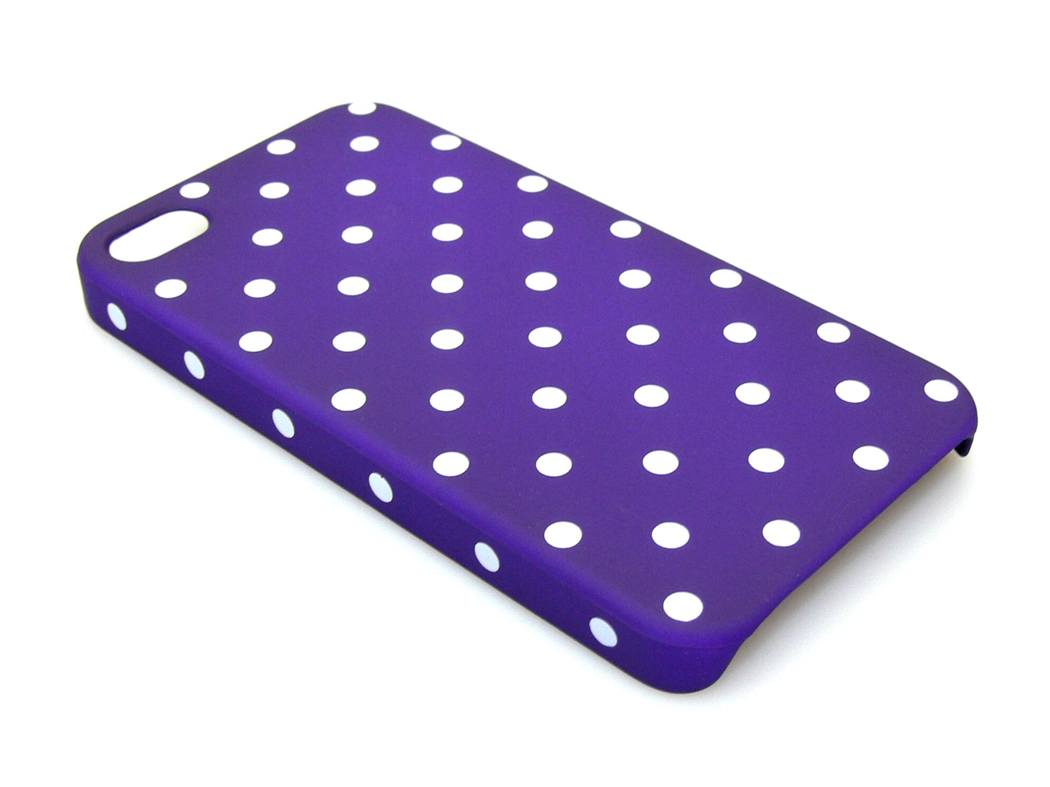 Cover 4/4S dot pattern Purple