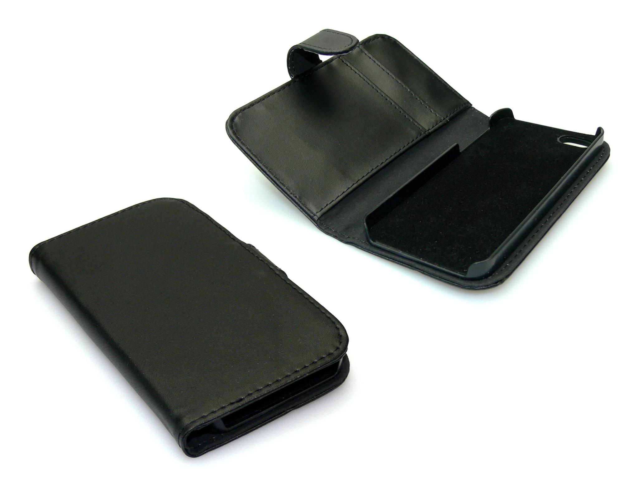 Wallet iPhone 5/5S PU skin Black