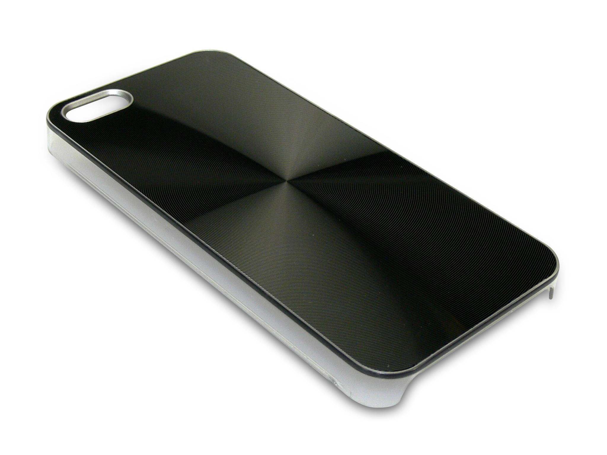 Cover iPh 5/5S Alu Circle Black