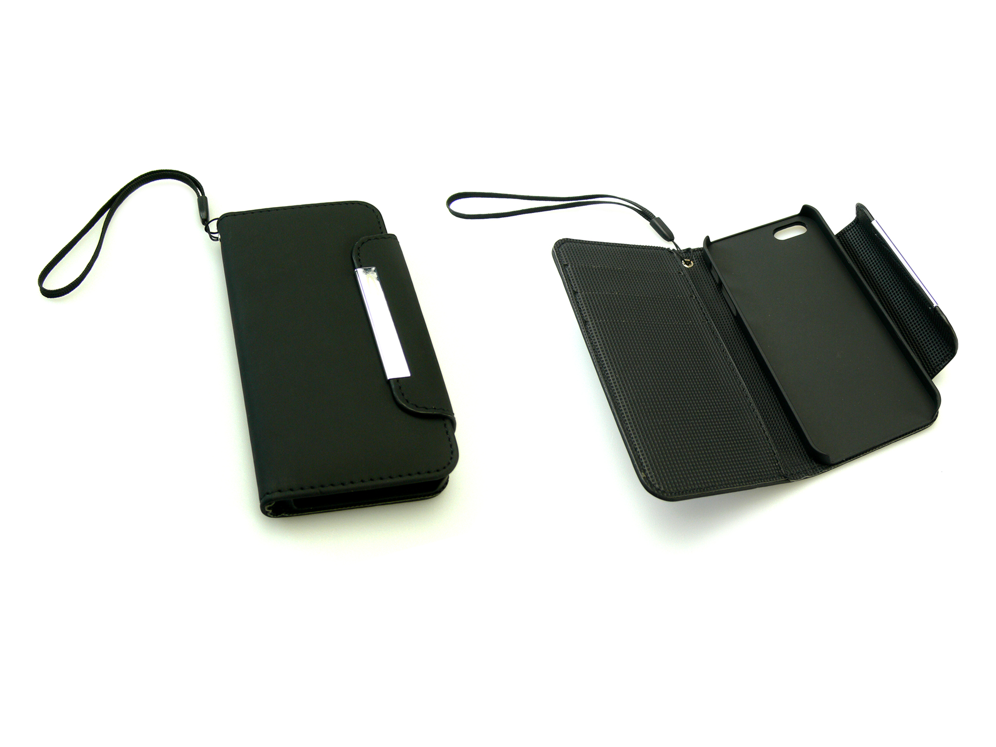 Flip wallet iPh 5/5S skin Black
