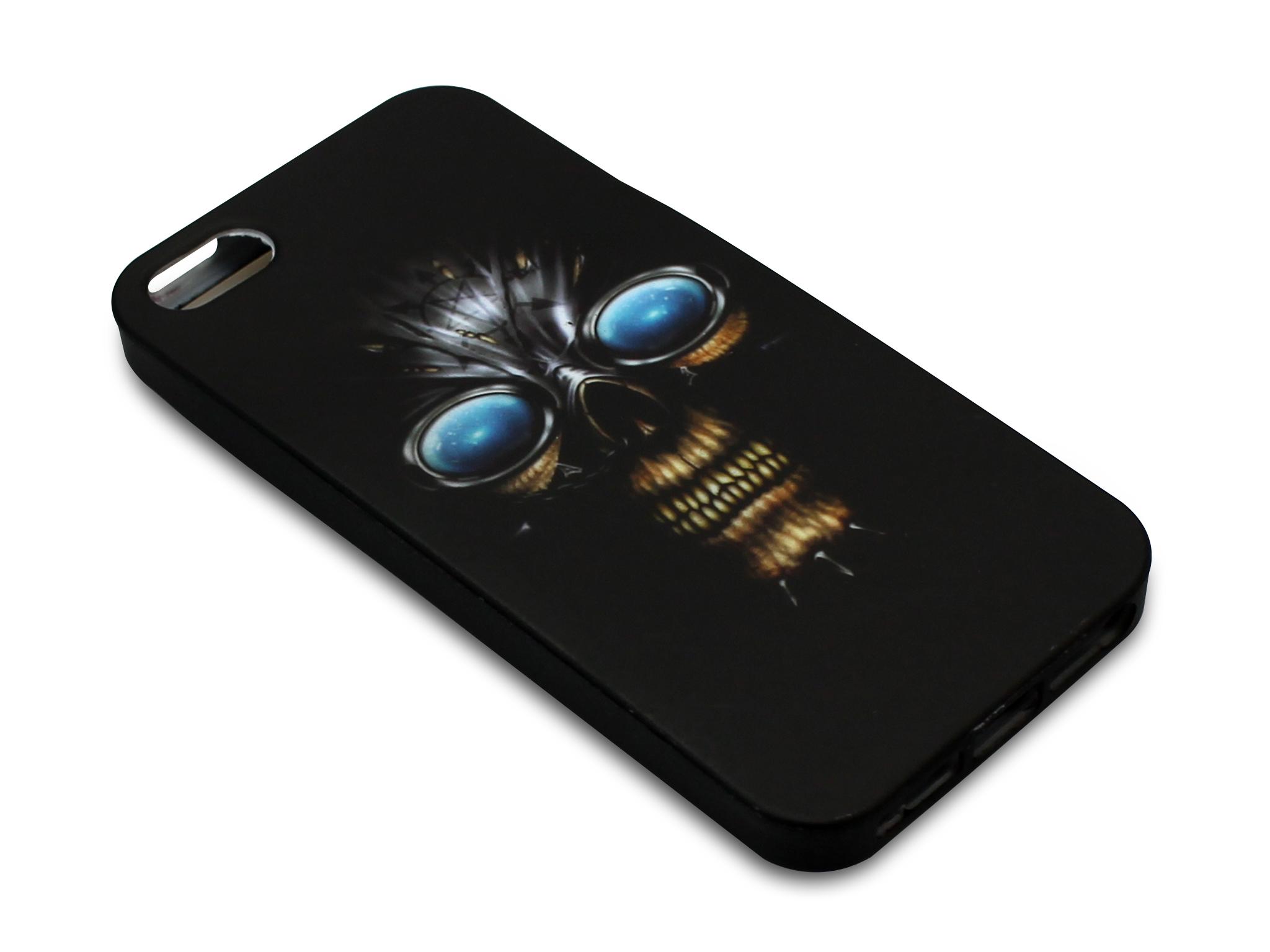 Print Cover iPh5/5S Skull Eyes