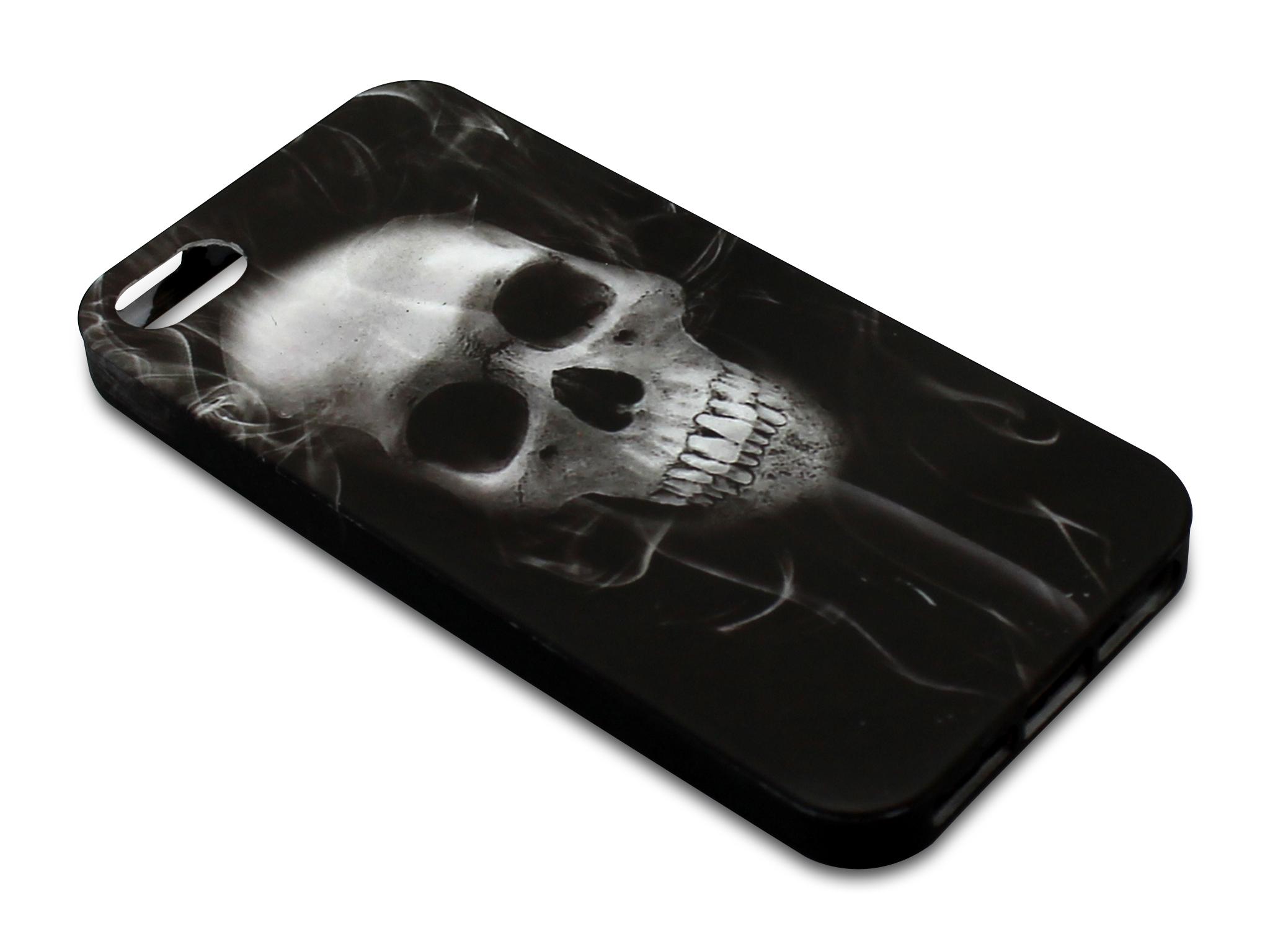 Print Cover iPh5/5S Skull Smoke