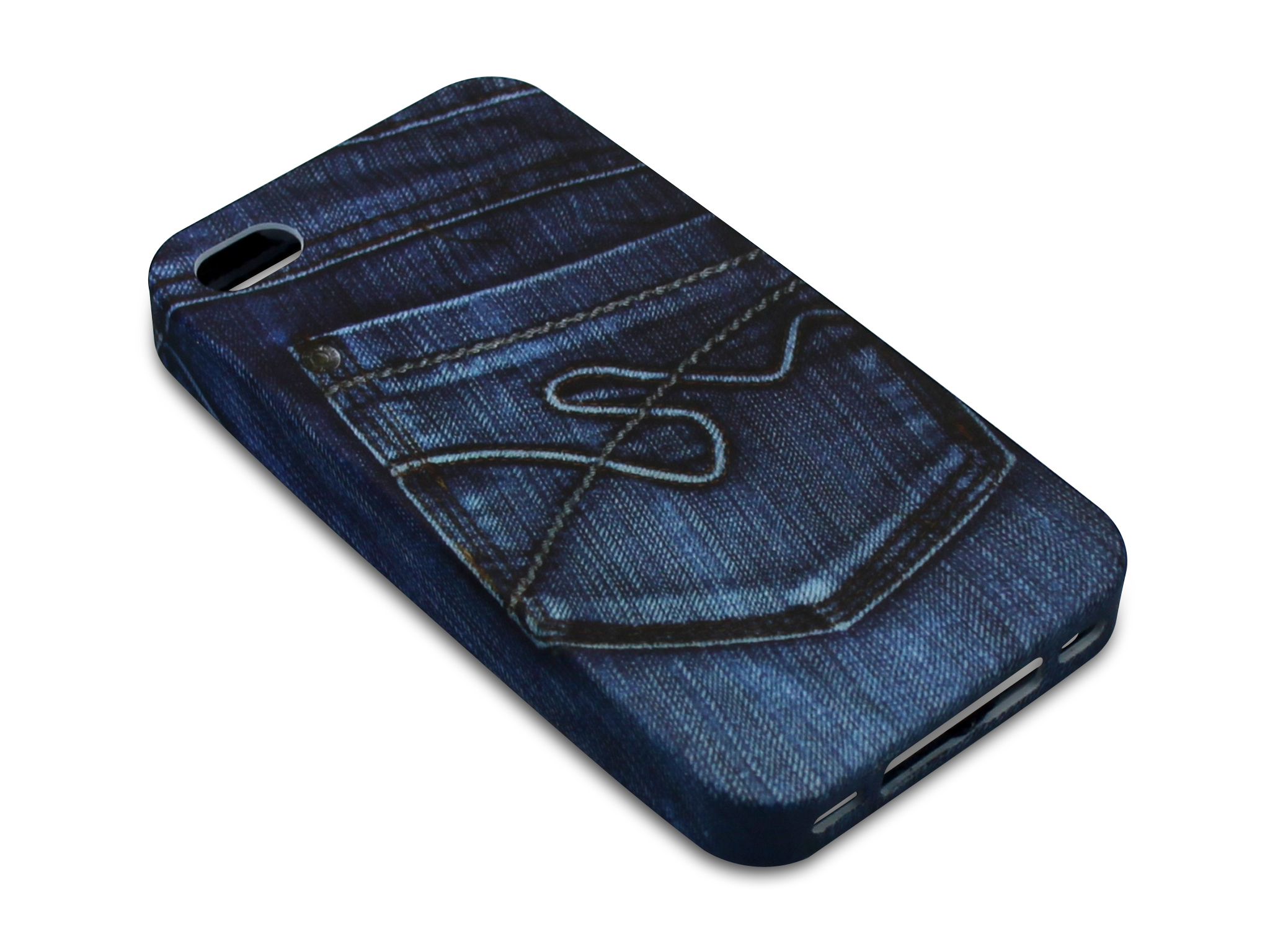 Print Cover 4/4S Jeans Pocket