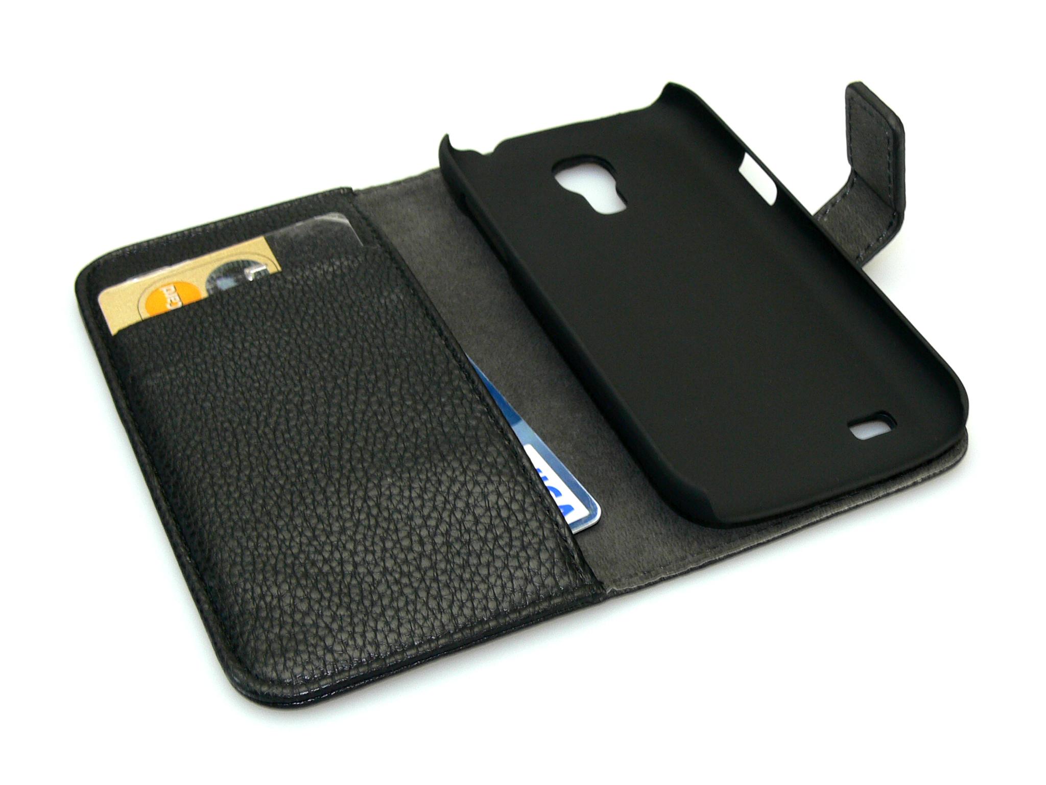 Cover wallet S4 Mini Black