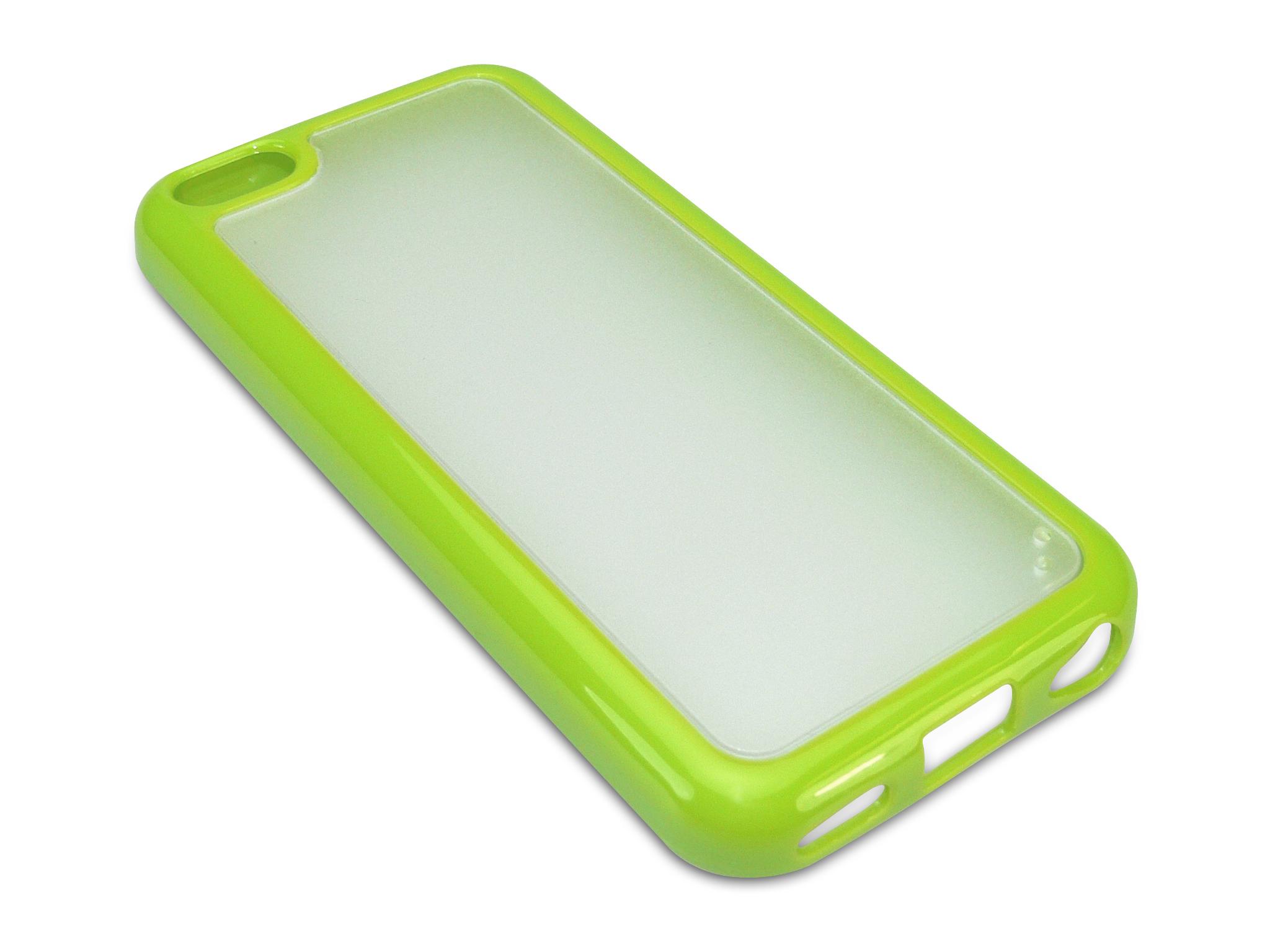 Cover 5C hard+soft frame Green