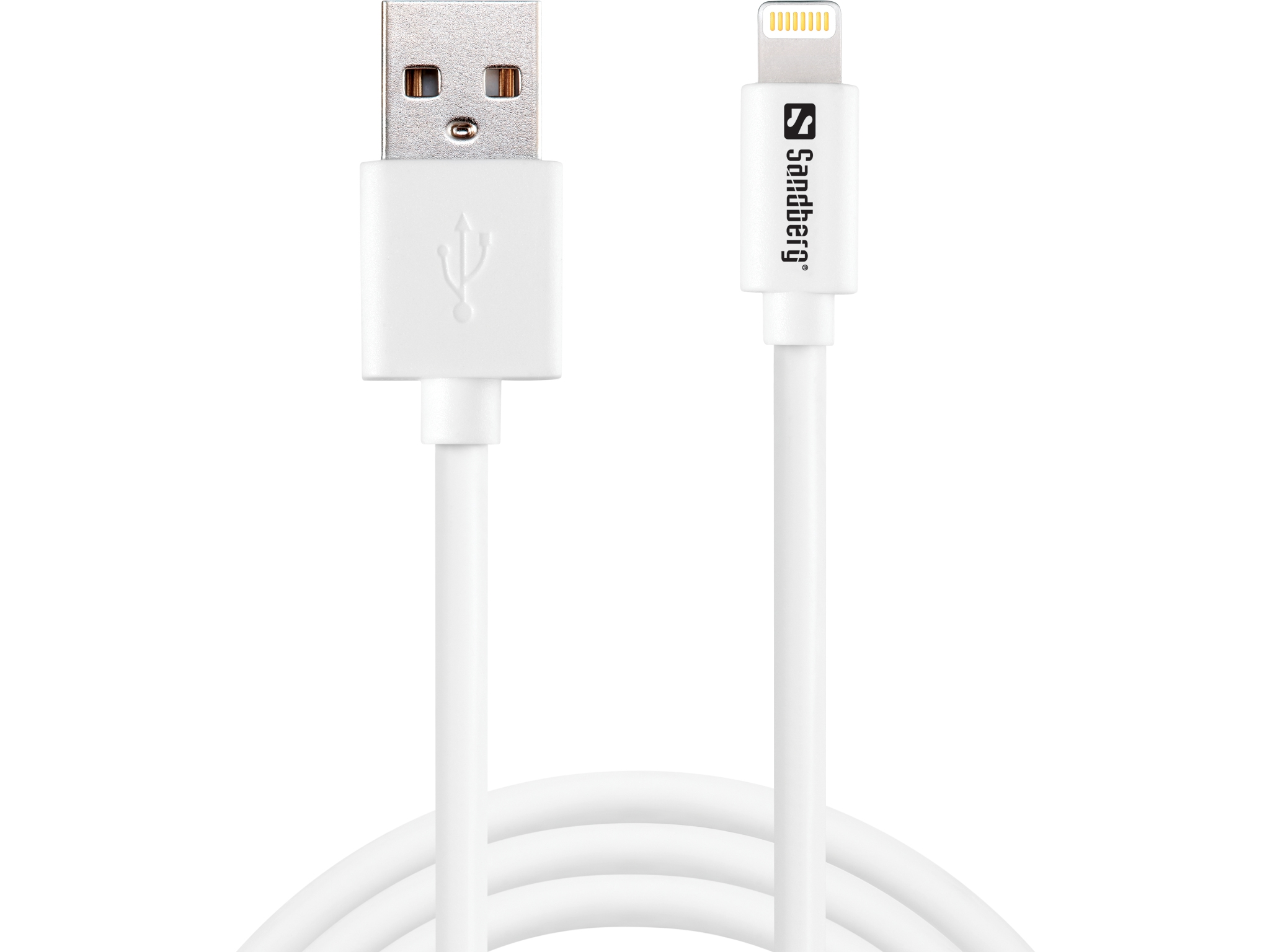 USB>Lightning MFI 1m White