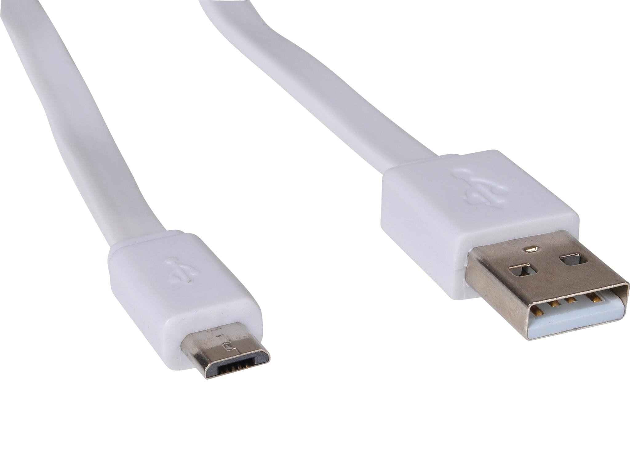 MicroUSB Cable Flat 0.15m