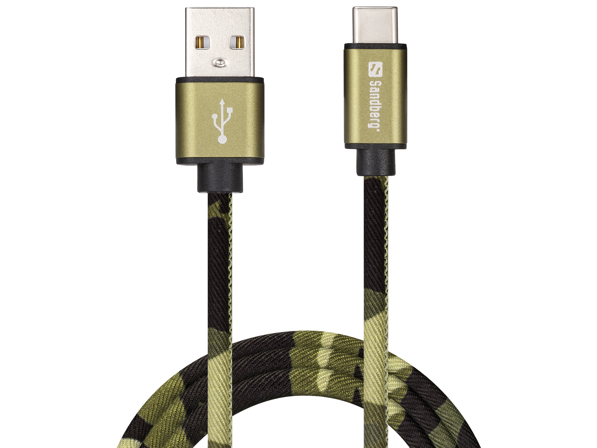 USB-C Green Camouflage 1m