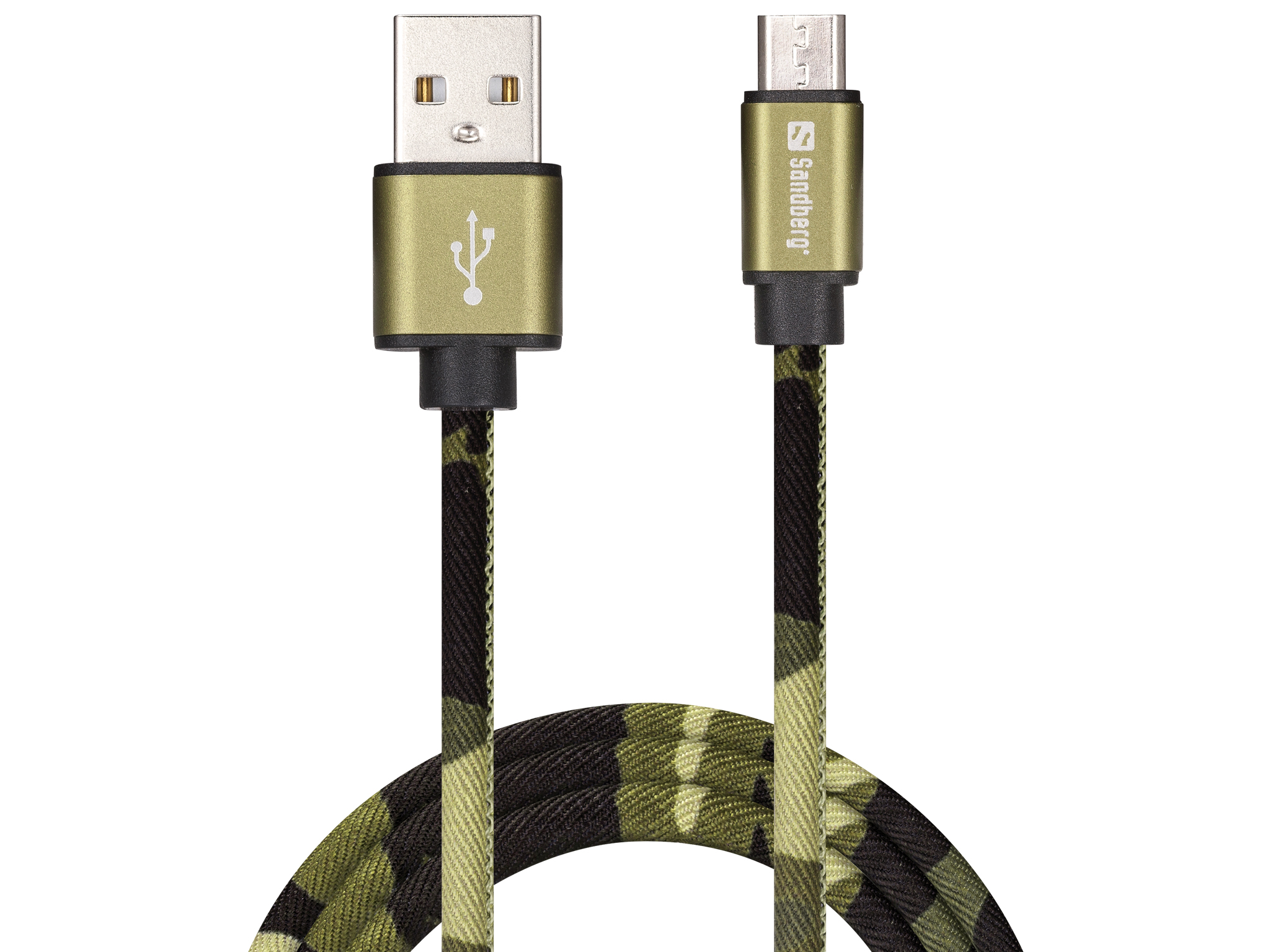 MicroUSB Green Camouflage 1m
